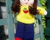 PDF Knitting Pattern - Dressing-Up Doll