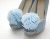 Pale Blue bloom Layered Tulles Corsage shoe clips