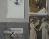 RESERVED for Kym Antique Photographs - Grab Bag Bundle - Set of 4 - Instant Ancestors - Vintage Ephemera