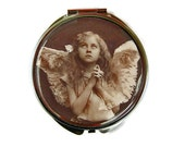 Angel Girl Compact Mirror Pocket Mirror Large