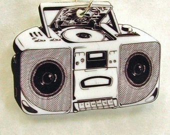 BOOMBOX Necklace Small Pendant Gifts for her
