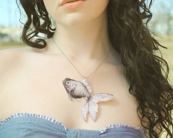 GOLDFISH Necklace Large Pendant Gifts for her