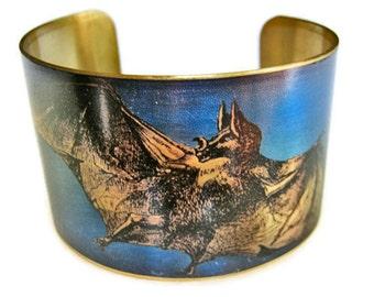 Vampire Bat cuff bracelet brass Gifts for her