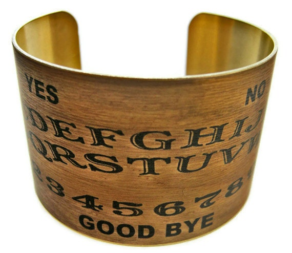 Ouija Board cuff bracelet brass or stainless steel Gifts for her