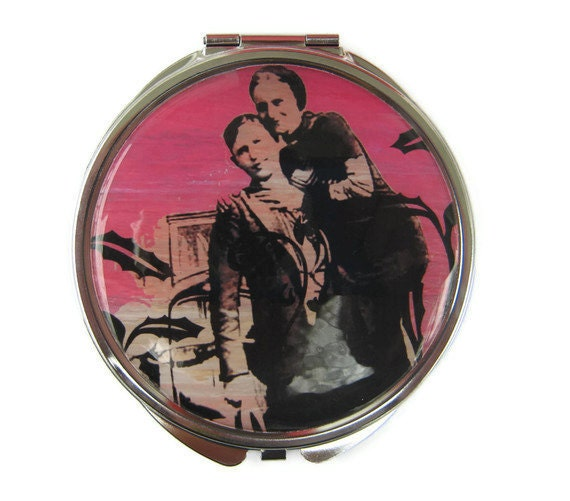 Bonnie and Clyde Compact Mirror Pocket Mirror Large Gifts for her
