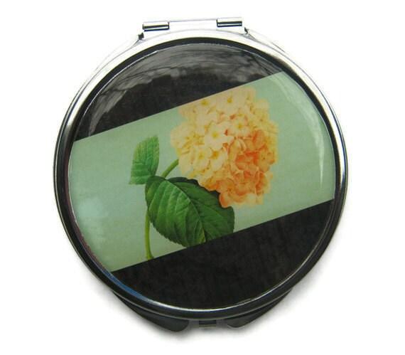 Hydrangea Compact Mirror Pocket Mirror Large