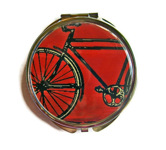 Bike Compact Mirror Pocket Mirror Large Gifts for her