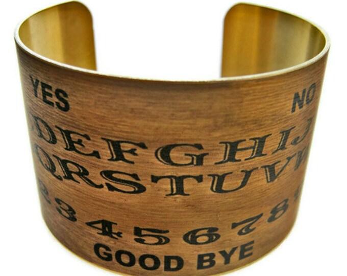 Ouija Board cuff bracelet brass Gifts for her