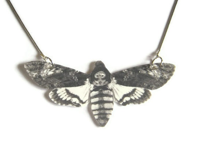 Necklace Death's Head Moth Large Pendant Free Shipping to USA Gifts for her