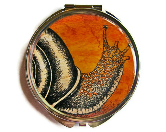 Snail Compact Mirror Pocket Mirror Large Gifts for her