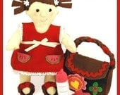 BABY OLIVIA - PDF Doll Pattern (Doll, Dress, Shoes, Diaper Bag, Bottle, Rattle)
