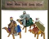 Wise Men Still Seek Him - PDF Pattern (Mini quilt, Wisemen, Camels)