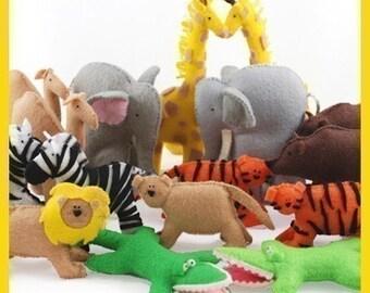 Noah's Ark Animals - PDF Pattern (Giraffes, Elephants, Lions, Tigers, Alligators, Zebras, Camels, Bears)