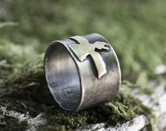 customizable sterling silver: your choice of symbol, design, quote (custom order) - ring/band