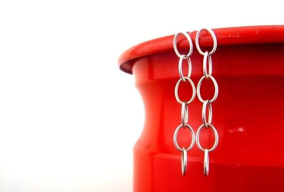 SALE: oval link - earrings