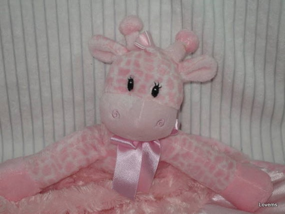 Security Blanket, Lovie, Luvy - Giraffe - Lovems - reserved for Nicole