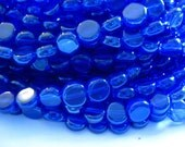 CLOSING SHOP - 32 pearlized royal blue glass beads - 8mm in diameter B91
