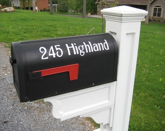 Mailbox house numbers Vinyl Decal street Address sticker  Set of two Exterior Outdoor