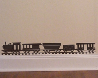 Train Wall Decal | Etsy