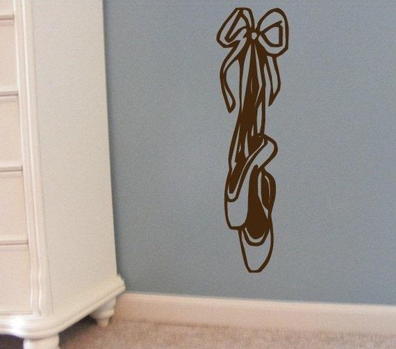 Childrens Decor  Ballerina Dance Shoes vinyl Wall Decal removable wall sticker for girls ballet decor