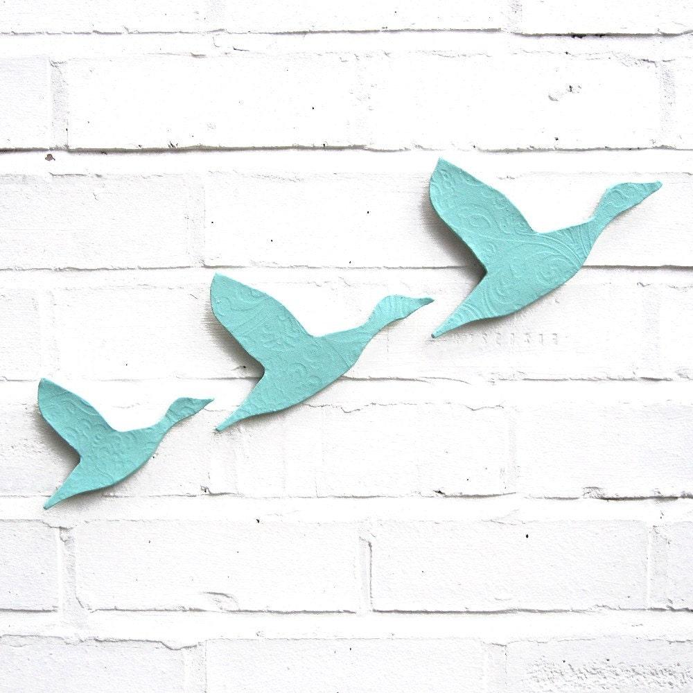 Ceramic Wall Wall Art Ceramic Flying Ducks