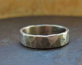 RESERVED for janice. 6 mm custom rustic wedding band. 14k yellow gold
