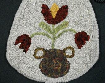 Hooked Wool Purse - PA Dutch Flower Pot