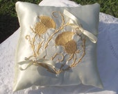 Discontinued!! SALE! Celtic Thistle Ring Pillow - Celtic Wedding Collection