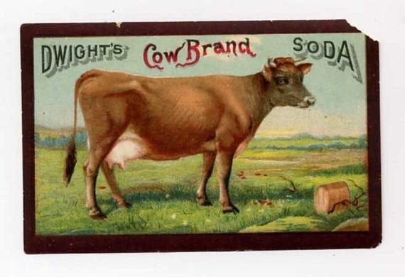 Victorian Trade Card - Great Cow - Late 1800's