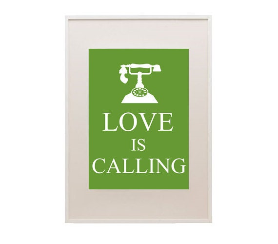 8.5x11in Love Is Calling Print