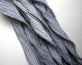 KAS Hand Dyed Silk Ribbons STONE