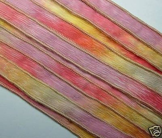 KAS Hand Painted Dyed Silk Ribbons  PAINTED DESERT