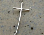 Molly's Sideways Cross Bracelet - Sterling silver