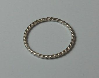 Eternity Ring- Single Rolled Round Wire Band - Alternative Engagement Wedding Ring - Bridal -  Jennifer Cervelli Jewelry