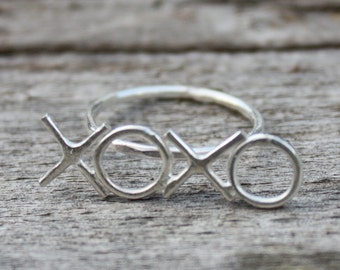 XOXO Ring - Gold-Filled - Love Initials - Gifts for Her - Jennifer Cervelli Jewelry