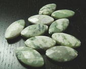 Peace Jade Faceted Marquis Beads...10ct. -- CLEARANCE