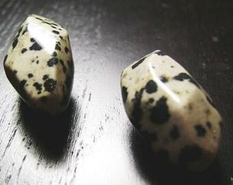 CLEARANCE !!! Dalmatian Jasper Nugget Focals...2ct.