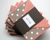 Fabric Cards in Mocha and Cream Polka Dot