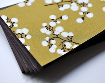 Winter Berries - Fabric Note Cards - Set of 8 // Notes // Thank You Cards // Stationery