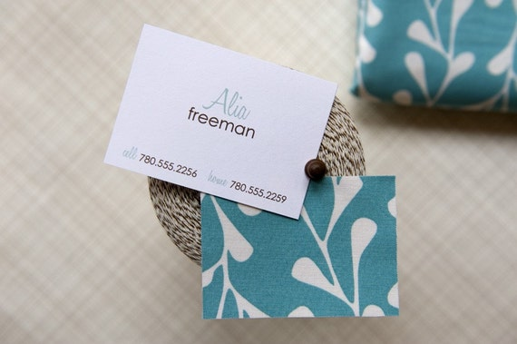 Fabric Calling Cards - Set of 48 - Pool Party