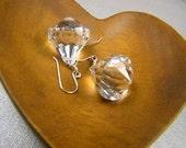 Ice Earrings acrylic diamonds, on sterling silver