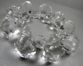Ice Ice Baby Bracelet plastic, chunky, diamonds, quartz crystals on thick clear elastic
