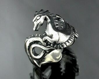 Silver Dragon Ring Band