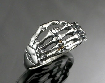 Sterling Silver Skeleton Hand Ring