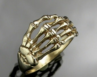 Gold Skeleton Hand Ring