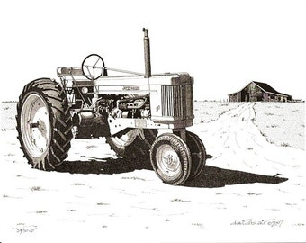 54 50 JD Tractor - Limited Edition Print