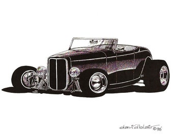 Hot Rod 1  -  1932 Ford - Limited Edition Print