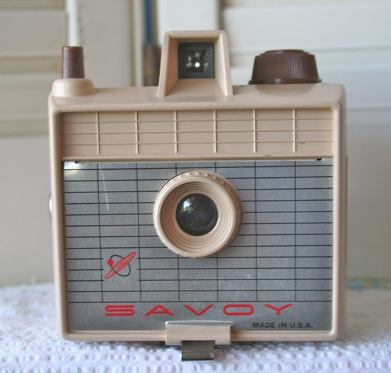 Vintage Savoy Camera in Tan- FREE DOMESTIC SHIPPING