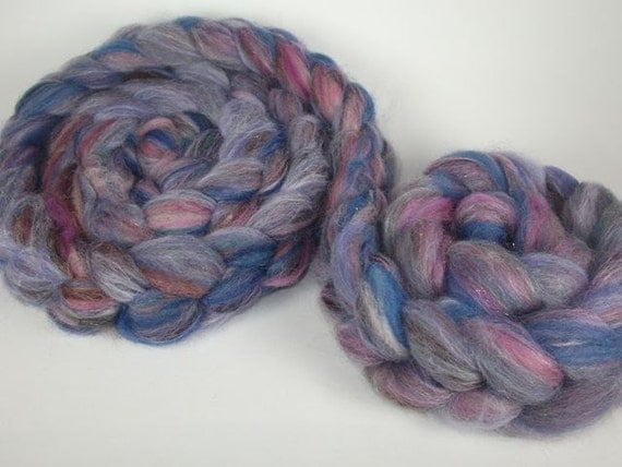 MIXERS - Hand Pulled Carded Roving - MIXED BERRIES (approx. 3.5 oz)
