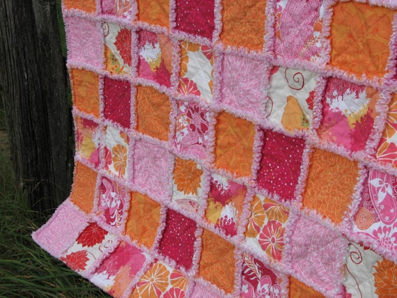 The Pink Mum Adult Size Rag Quilt Blanket 54 X By